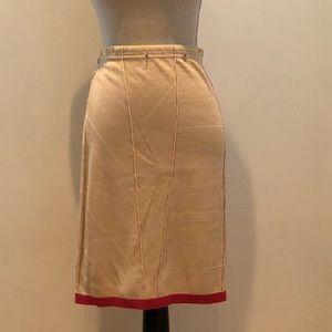 Vintage GIANFRANCO FERRE Knit Taupe Skirt M
